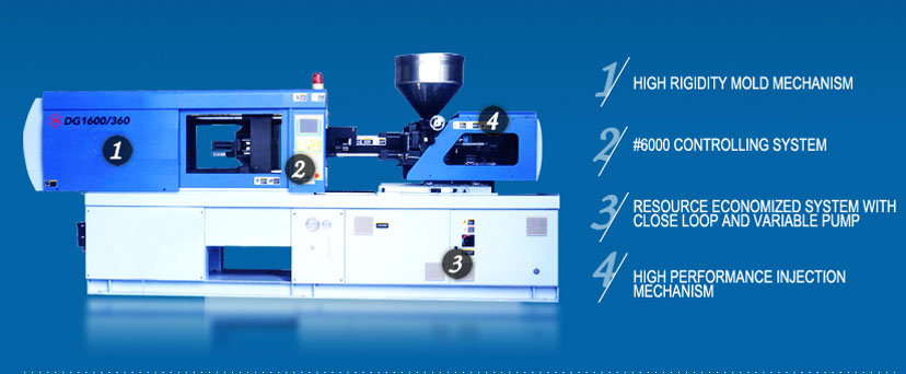 DG500-DG2000 SMALL INJECTION MOLDING MACHINE